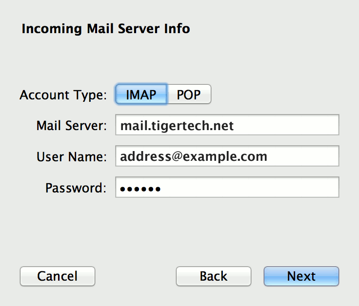 how to find incoming mail server