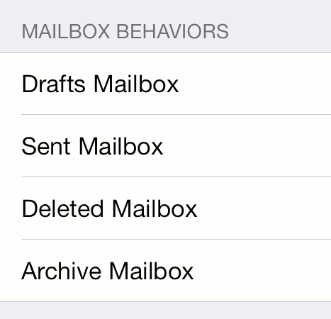 Mailbox Behaviors screenshot