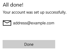 Windows 10 Mail all done