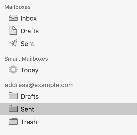 how to delete an email address from apple mail