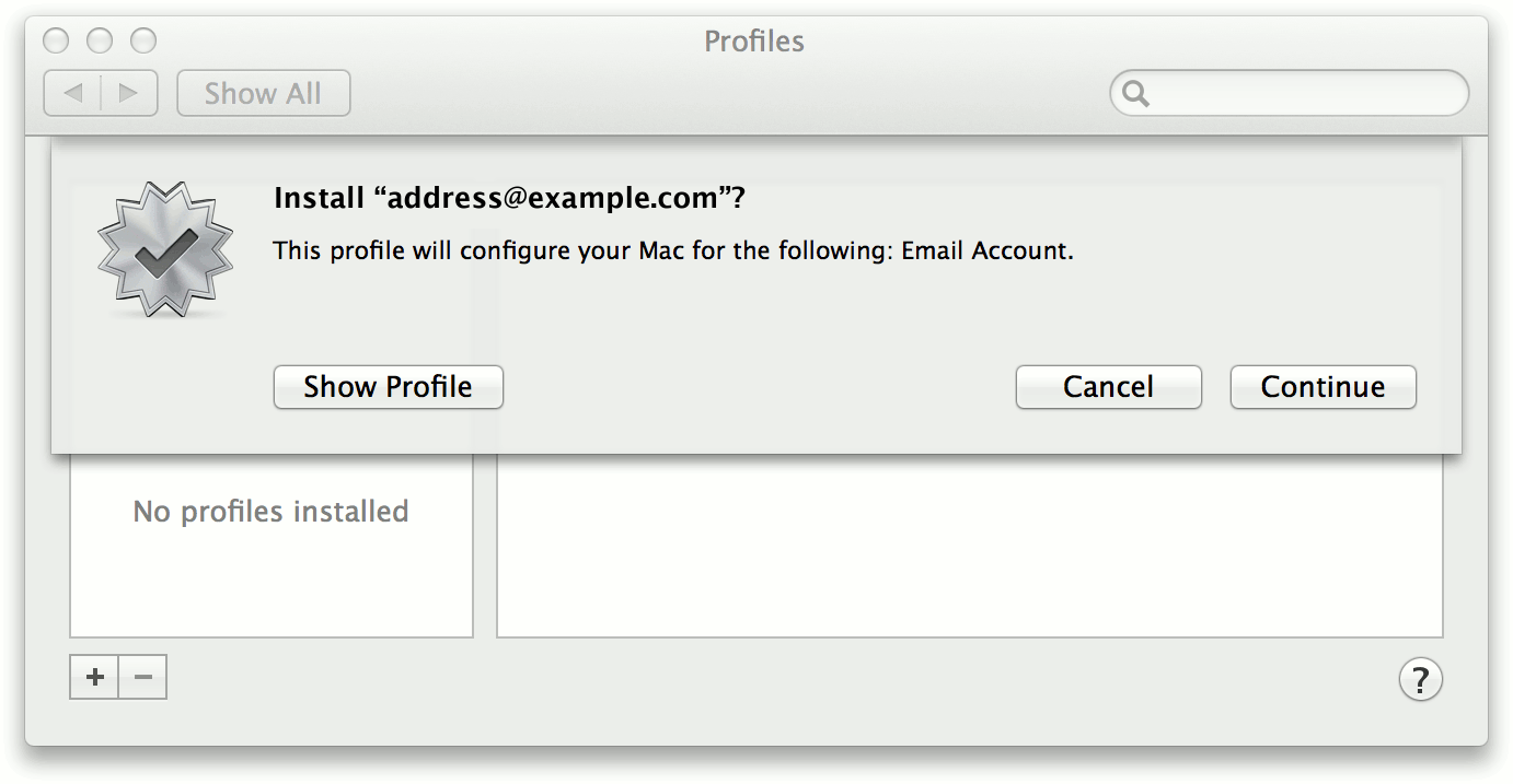 Apple Mail Profile 1