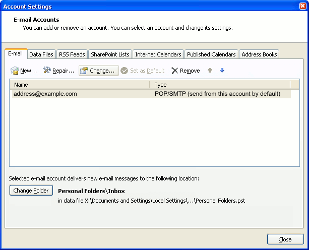 How do I make Outlook 2007 leave a copy of my messages on