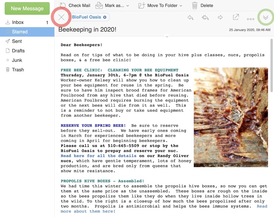 Webmail 2020 Two column view