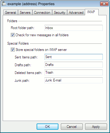 Imap folders for windows live mail tiger technologies support close the setup windows m4hsunfo Images